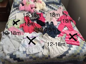 Baby girls clothes 12-18m