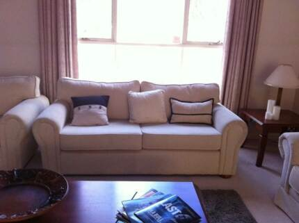 Couch sofa 3 seater cream reading chair Templestowe Manningham Area Preview
