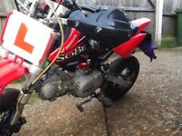 Road legal pit bike reg as 50cc