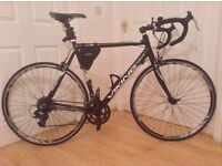 Will trade for mountain bike or sell,,excellent condition black green & white Racer