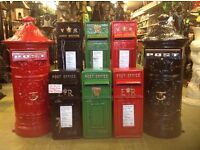 ER CAST IRON POST BOXES, (RUST FREE, COLOURS AVAILABLE, GARDEN FURNITURE, PATIO)**