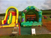 Inflatable slide and bouncy castle for sale