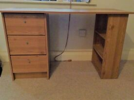 Desk. Width-120cm, Depth-49cm, Height-72cm. Good condition. To be collected from Blackheath