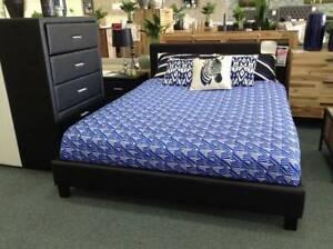Leatherette Bedroom Suite 4 PC - Queen, Double, Single, King