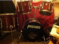 Premier XPK Rosewood Lacquer Drums 4 Piece Shell Pack