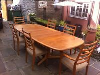 Stunning Gudme Mobelfabrik Niels Large Dining Table And 6 Chairs Extends