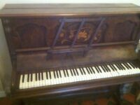 Free Piano - I will pay for delivery in Cardiff. Lovely stand up piano, needs tuning and 2 new keys.