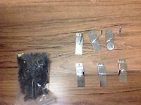 Slat wall hooks. Mixed box of 4 and 6 inch hooks.