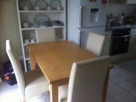 PINE DINNING ROOM TABLE CHAIRS FOR SALE