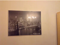 Large framed Brooklyn Bridge poster