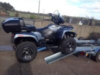 NEW TWIN RUNNER GALVANISED QUAD MOVING TRAILER WITH TWIN RAMPS