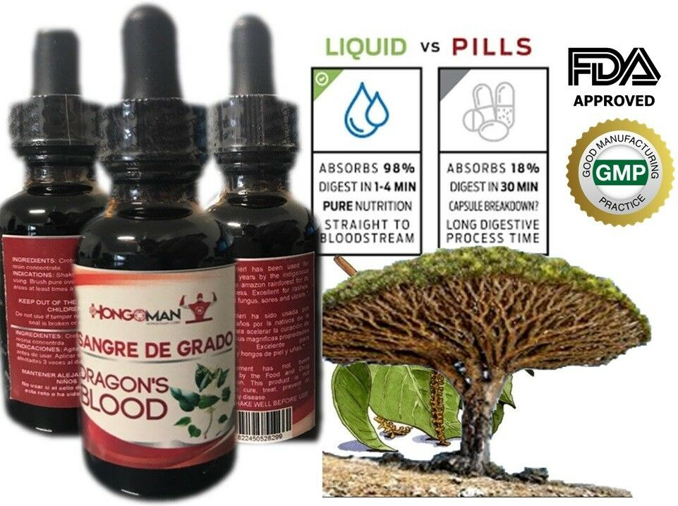 Sangre De Grado 100% Pure Dragon's Blood Tree Sap Liquid Wound Healing Dropper