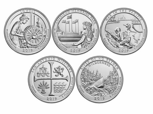 2019 National Park Quarters - Complete 10 Quarter P&D Set - US Mint **PRESALE**