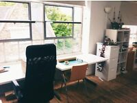 Desks available in creative co-working studio in Haggerston, walking distance to Dalston/Shoreditch