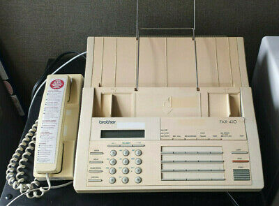 Brother Fax-410 Machine Facsimile Phone - Used With Manual
