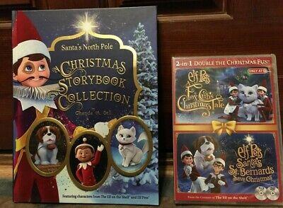 NEW ELF PETS DVD & STORYBOOK SET ELF ON THE SHELF FOX CUBS & SAINT BERNARDS TALE