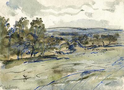 SHERBORNE LANDSCAPE Painting c1940 WALTER SICKERT Pupil FRANK GRIFFITH