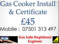 Gas Cooker Installation & Certificate - Registered Engineer - Coventry Corgi fit connect install