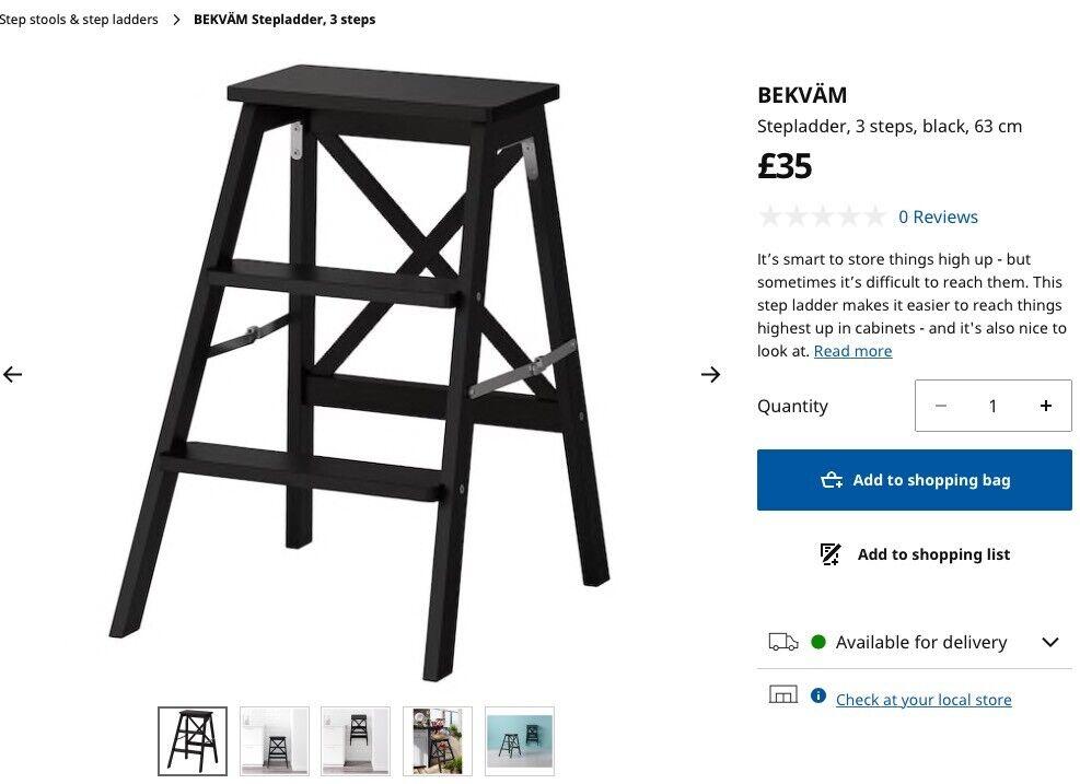 Enjoyable Ikea Bekvam Step Ladder Stools Black Brown X2 In Wimbledon London Gumtree Unemploymentrelief Wooden Chair Designs For Living Room Unemploymentrelieforg