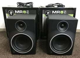 "Mackie MR6 MK3 8"" Full-Range Reference Active Powered DJ Studio Monitors , Speakers / Boxed."