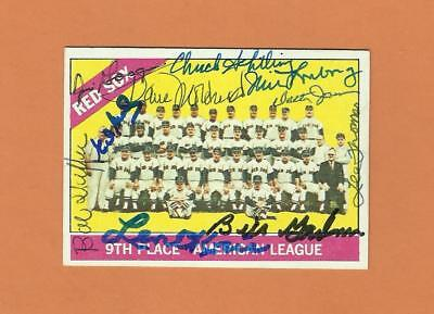 1966 Boston Red Sox signed card Jim Lonborg Chuck Schilling Len Okrie 10 autos
