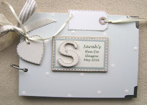 PERSONALISED HEN PARTY.A5. SIZE. PHOTO ALBUM/SCRAPBOOK/MEMORY BOOK.