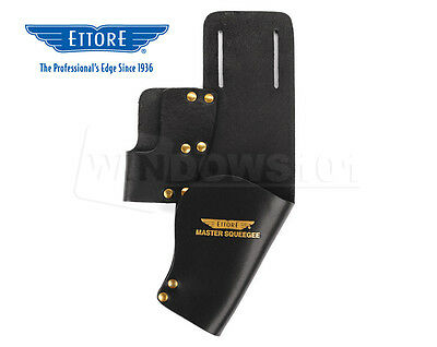 Ettore Dual Leather Squeegee Holster for Window Cleaning Washing