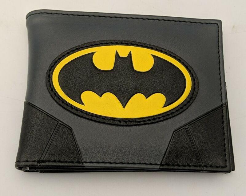 DC Comics Batman Logo Black Bifold Wallet NEW Men