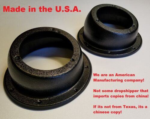 """ANGLED WFL SPEAKER PODS 6.5"""" 6 1/2"""" SPEAKER MOUNTS W/FLANGE MADE IN THE U.S.A."""