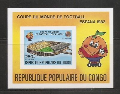 Congo Republic , World cup , Spain 1982  Souvenir Sheet . MNH
