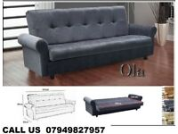 SOFABED 3 SEATER LEATHER IN BLACK COLOUR SOFA BED