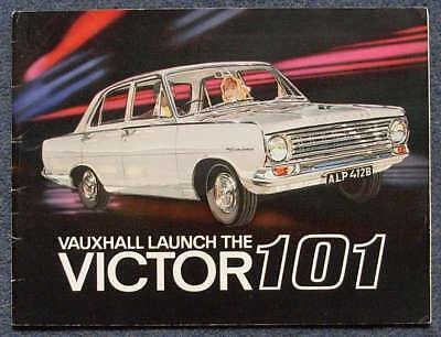 VAUXHALL VICTOR 101 Car Sales Brochure 1964 #V1533/11/64 Standard SUPER De Luxe