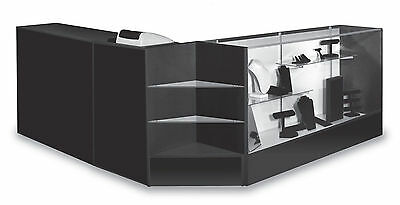 Combo Cashier Pos Showcase Counter Register Stand Black Knockdown New