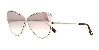 Tom Ford ELISE-02 FT 0569 shiny rose gold/light pink mirror (28Z C) Sunglasses