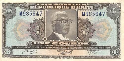 Haiti  1  Gourde  L. 1973 / 1979  P 210  Series  M  Circulated Banknote G11