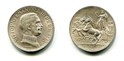1 Lira Italien 1917 Silber