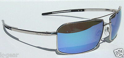 REVO Cayo Sunglasses POLARIZED Chrome Silver/Water Blue NEW RE5001X-03 Sport