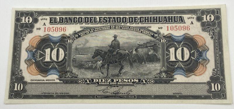 El Banco del Estado de Chihuahua 10 Pesos Serie A
