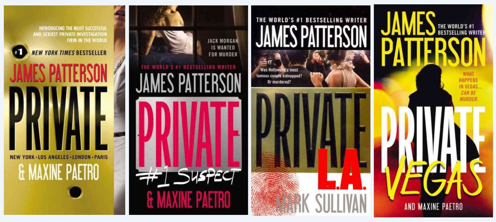 """Image for """"James Patterson PRIVATE Series (MAIN) BRAND NEW Paperback Set 1-4! Jack Morgan by Patterson, James"""""""