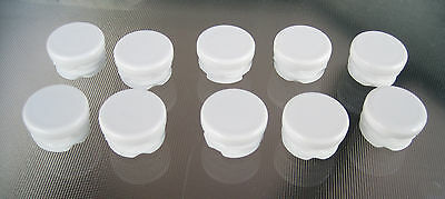 10 - 1 White Round Tubing Plastic Hole Plug 1 Inch End Cap Post Pipe Glide Tube