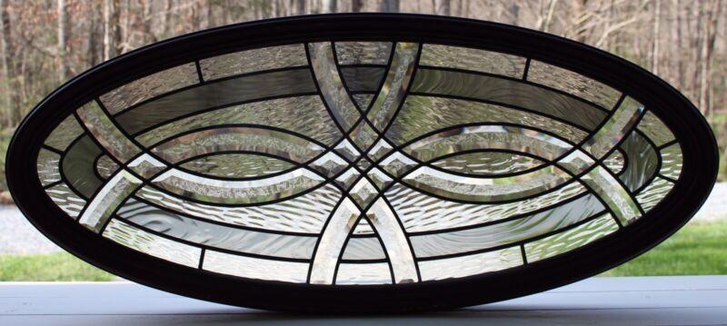 Leaded Glass Oval Window Thermal Tru