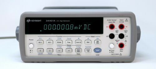 HP / Agilent 34401A Digital Multimeter, 6½ Digit Tested & Spot-on + Leads. Clean