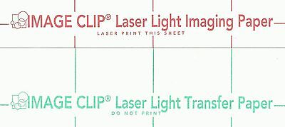 Laser Transfer For White Fabric Image Clip Light 8.5x11 100ct Each2 Sets