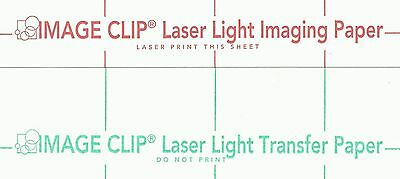 Laser Transfer For White Fabric Image Clip Light 8.5x11 50ct Each2 Sets