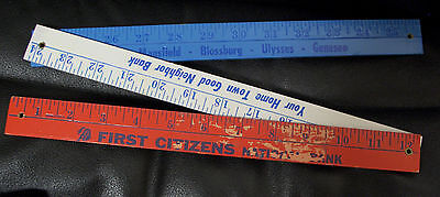 Tri Fold First Citizens National Bank Wood Ruler  Red  White  Blue  Pennsylvania