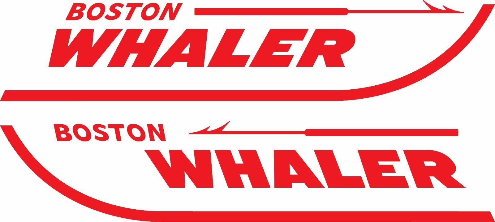 Home Decoration - Set of 2 Boston Whaler Boat Decals-4 Sizes Available-#2