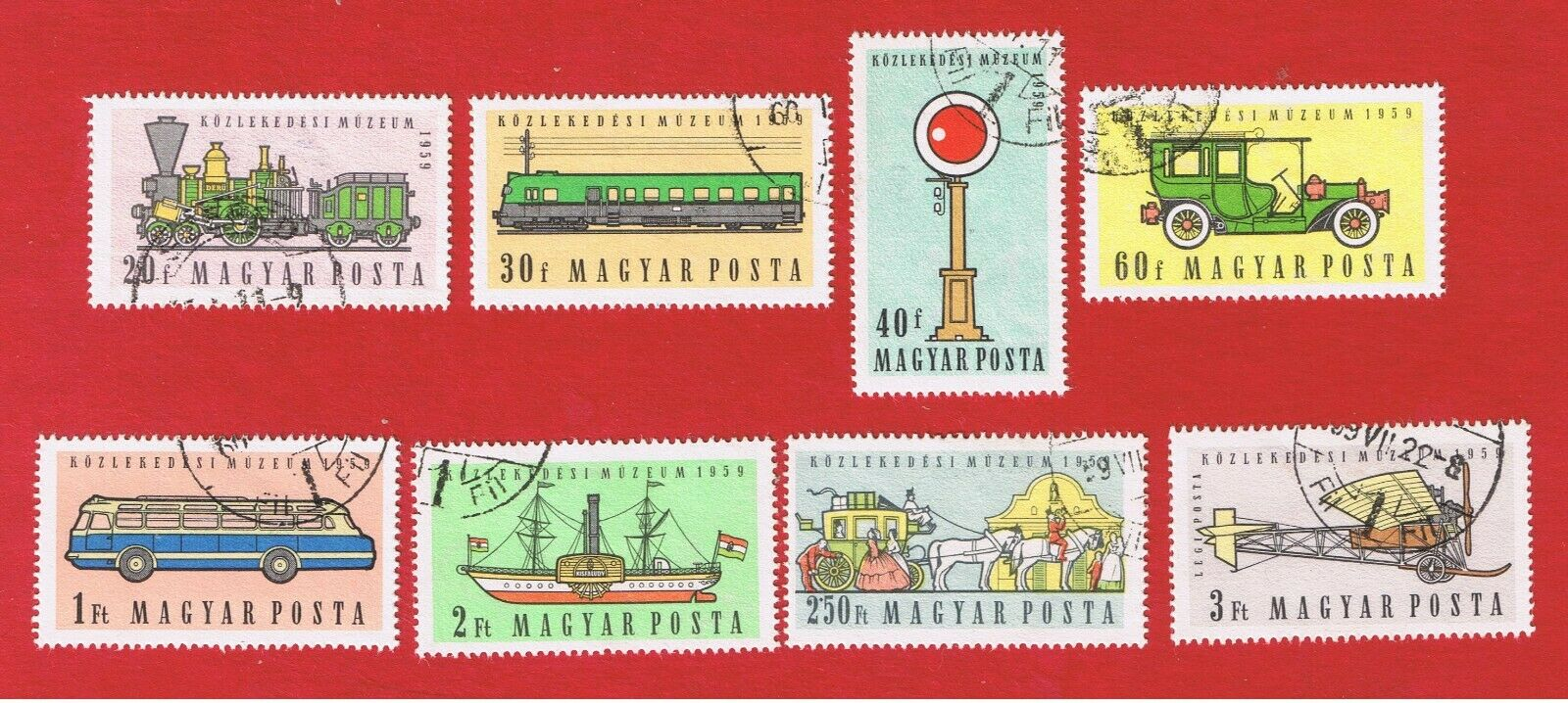 Hungary 1224-1230 C201 VF Used Transportation Free S/H - $2.00