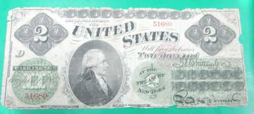 FR. 41a 1862 $2 TWO DOLLARS LEGAL TENDER UNITED STATES NOTE HAMILTON Q3B6