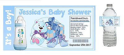 10 Baby Boy Shower Party Favors ~ Water Bottle labels Buy 3 get 1 free (bb2)](Buy Baby Shower Favors)