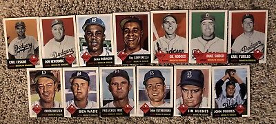 (Brooklyn Dodgers ~ 1953 Topps Baseball REPRINT Team Set (All 25 cards) NM )